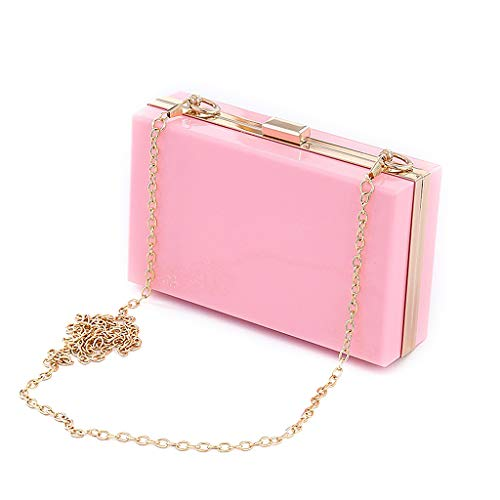 Clutch Party Shoulder Bag Women Acrylic Purse Evening Pink Handbag Wallet Wedding BYNNIX Party wx0vgqtHv