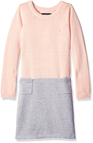 Nautica Colorblock Pink Dress Sweater Girls' Pale qfFxfRaZ