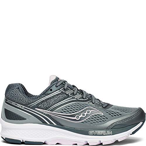 Saucony Men's Echelon 7 Running Shoe, Slate/Pink, 12 XW US