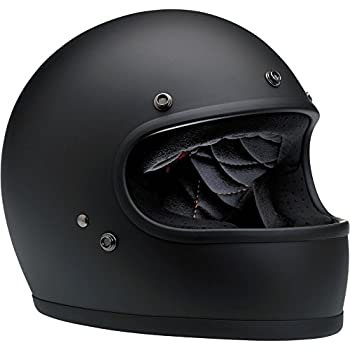 Biltwell Gringo Full Face Helmet (Flat Black, Medium)