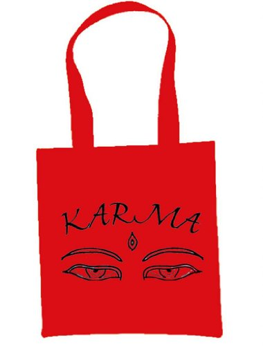 Karma Shoulder / Tote Bag (choice of colours) Red