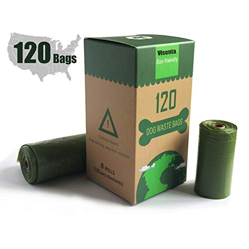 Amazon.com: Visenta - Bolsas para caca de perro, 8/10 rollos ...