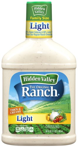 (Hidden Valley Original Ranch Light Dressing, 36 Fluid Ounce Bottle, 3 ct)