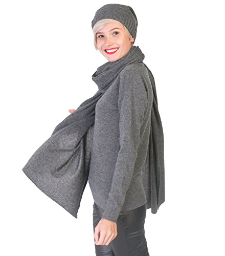 100% Cashmere Wrap Shawl Stole Extra Large Scarf -by cashmere 4 U