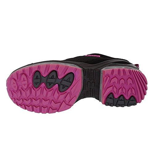 Lowa 320618-9919 - Mocasines para mujer negro / rosa