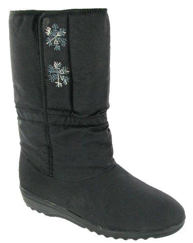 Blizzard Damen Stiefel Schneeflocke Stiefel Schwarz