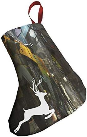 クリスマスの日の靴下 (ソックス3個)クリスマスデコレーションソックス サイエンスフィクション未来戦車 クリスマス、ハロウィン 家庭用、ショッピングモール用、お祝いの雰囲気を加える 人気を高める、販売、プロモーション、年次式