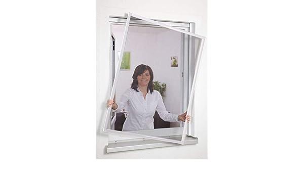 empasa – Mosquitera con marco de aluminio para ventanas sin agujeros 80 x 100 cm blanco: Amazon.es: Hogar