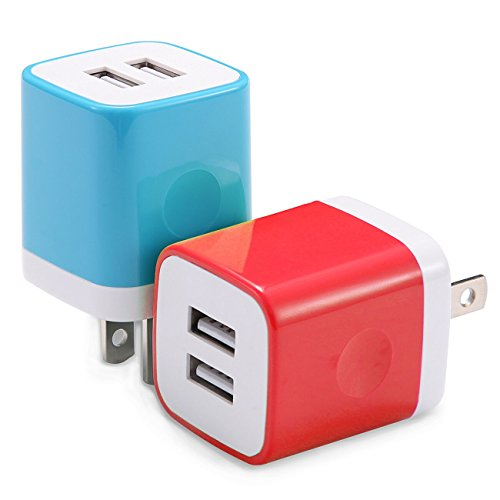 USB Wall Charger, WITPRO 2-Pack 2.1Amp Dual Port USB Cube Wa