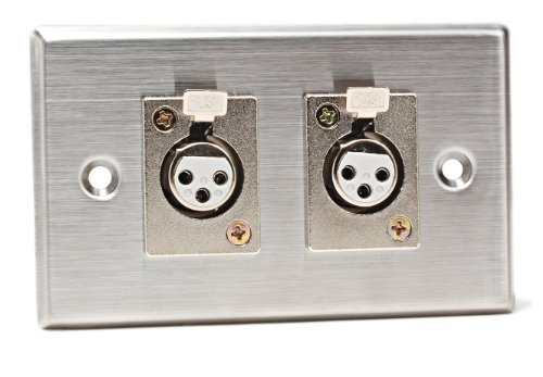 CAD Audio 40-348 Stainless Steel Dual 3-Pin XLR-F Connectors