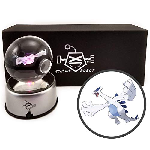 (ScrewyRobot Crystal Ball 3D Night Light Color Changing Lamp 80mm)