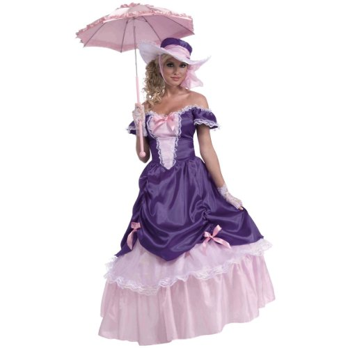 Pink Belle Costumes (Forum Novelties Women's Blossom Southern Belle Costume, Purple/Pink, One Size)