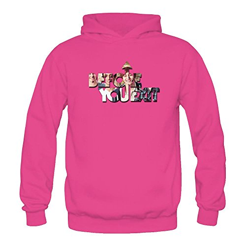 TMILLER Women's Before You Exit Logo Hoodied Sweatshirt Size XL Pink