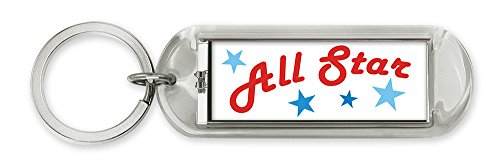 All Star Key Tag - Dimension 9 Personalized Solar Flashing Keychain - All Star (10009)