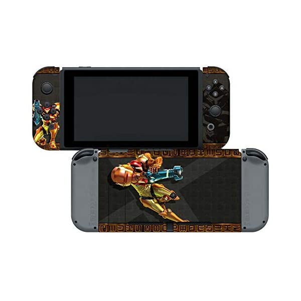 "Controller Gear Officially Licensed Nintendo Switch Skin & Screen Protector Set - Metroid - ""Samus"" - Nintendo Switch 4"