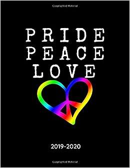 Pride Month 2020 Calendar Pride Peace Love   2019   2020: LGBT+ Weekly Calendar Planner   18