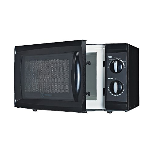 Westinghouse WCM660B  WCM660W 600 Watt Counter Top Rotary Microwave Oven, 0.6 Cubic Feet, Black