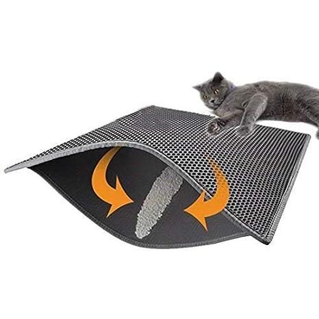 Soddyenergy - Cat Litter Pad, Doble Capa Impermeable Alfombrilla Gato con, para Proteger el Suelo y la Alfombra: Amazon.es: Productos para mascotas