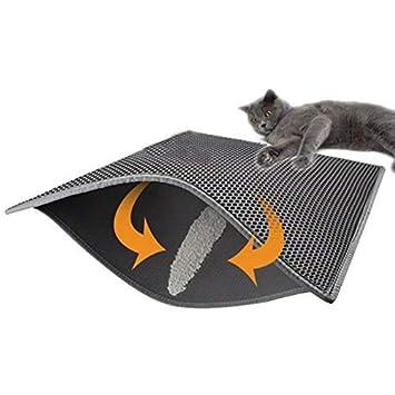 Soddyenergy - Cat Litter Pad, Doble Capa Impermeable Alfombrilla Gato con, para Proteger el Suelo y la Alfombra