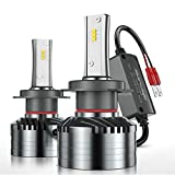 H7 LED Headlight Bulbs, Marsauto M2 Series Super Bright Head/Fog Light Bulbs with Fans, Holder Adapter CANbus-Ready IP67 CSP Chips 10000LM 6000K Xenon White 2-Pack: more info
