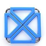 ZHAS European-style stainless steel silicone mats/hot pad/Innovative waterproof sliding table mat-burn-proof/pot mat/mat/Place mat-E 12x12cm(5x5inch)