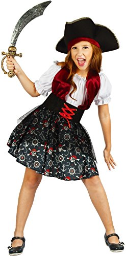 U LOOK UGLY TODAY Girls Halloween Costume Pirate Cosplay for Kids Cosplay Dress Up Party