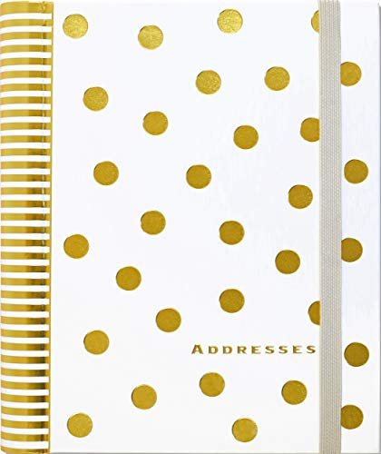 Gold Dots Large Address Book