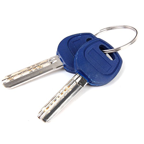70MM 32.5/37.5 Door Lock Key Cylinder Barrel High Security Anti Snap/Bump/Drill/Pick with 7 keys by Generic