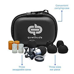 QuietBuds Noise Cancelling Ear Plugs – Ear Plugs for Sleeping | Ear Protection for Concerts | Comfortable Shooting Ear…