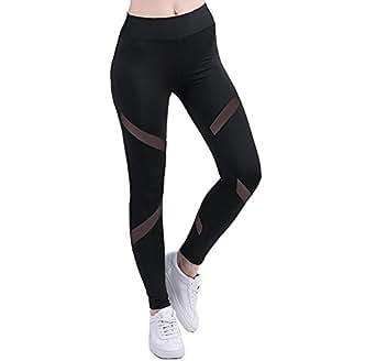 Women's Mesh Fashion Leggings High Waist Yoga Pants Gym Workout Fitness Ankle-length Legging