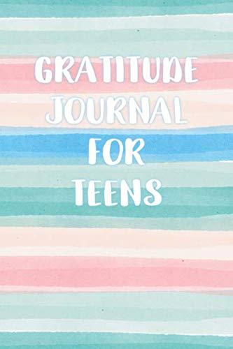 Gratitude Journal for Teens: Watercolor Stripe Gratitude Journal for Teen Girls with Writing Prompts