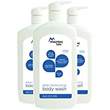 Mountain Falls Body Wash, Deep Moisturizing, for Dry Skin, with Nutrilock Blend of Natural Moisturizers, Pump Bottle, Compare to Dove, 33.79 Fluid Ounce (Pack of 3)