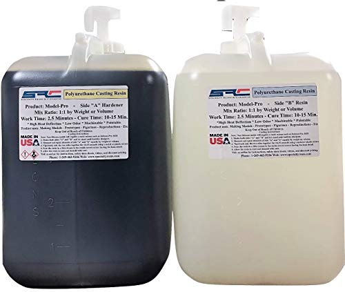 Model-Pro Polyurethane Casting Resin Liquid Plastic for Making Models and Crafts - 10 Gallon Kit ()
