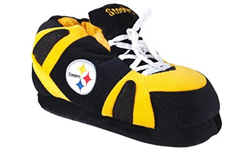 Steelers Sneaker Officially Nfl Mens Comfy Womens Licensed Happy Pittsburgh Slippers Feet And AqWwn48Pw