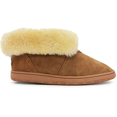 (Lamo Women's Ladies Doubleface Bootie Fashion Boot Chestnut 11 M US)