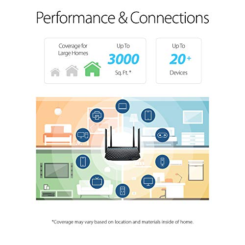 Image of ASUS AC1300 WiFi Router (RT-ACRH13) - Dual Band Gigabit Wireless