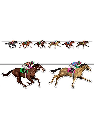 Derby Decorations - Horse Racing Streamer 10.5-Inch by 6-Feet