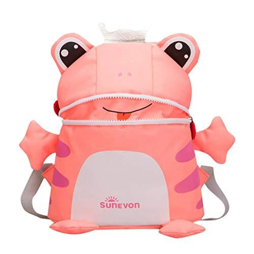 Nevera Baby Girl&Boy Kids Cartoon Frog Fox Animal Backpack Toddler Kindergarten Bags (Pink) by Nevera Bags (Image #2)