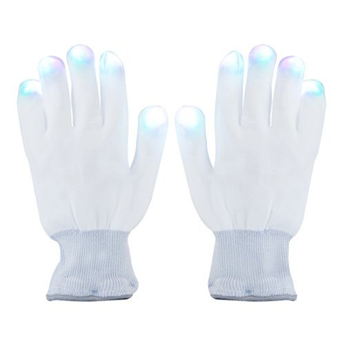 LED Gloves, Aomeiqi Finger Light Gloves Colorful 6 Modes for Party Halloween Cycling (Happy Halloween Pole Dance)