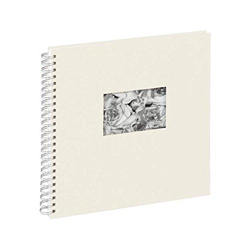 Pagna 13938-02 Passepartout-Spiralalbum, 310 x 320 mm, 40 Seiten, Leineneinband mit Passepartout, weißer Fotokarton, weiß