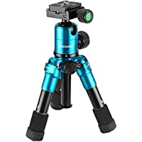 Neewer 20 inches/50 centimeters Portable Compact Desktop Macro Mini Tripod with 360 Degree Ball Head,1/4 inches Quick Release Plate,Bag for DSLR Camera,Video Camcorder,up to 11 pounds/5 kilograms Blue
