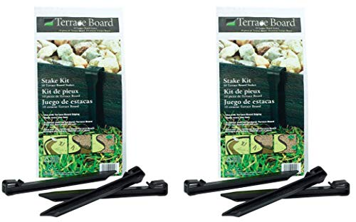(Master Mark Plastics 99410 Terrace Board 10 Inch 10 Pack, Black Stakes, 2 Pack (Total 20 stackes))