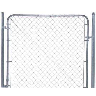 6 ft. W x 5 ft. H Galvanized Metal Adjustable Single Walk Fence Gate by YARDGARD