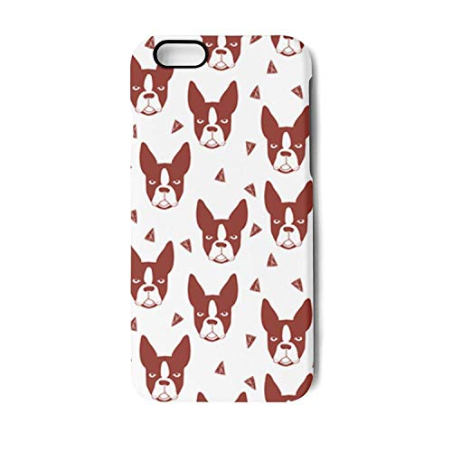 (IPhone6 Case/IPhone6S Case Boston Terrier Cute Dog Printing Anti-Finger Anti-Scratch TPU Heavy Duty Protection Phone Back Cover for iPhone 6 Case/iPhone 6S Case)