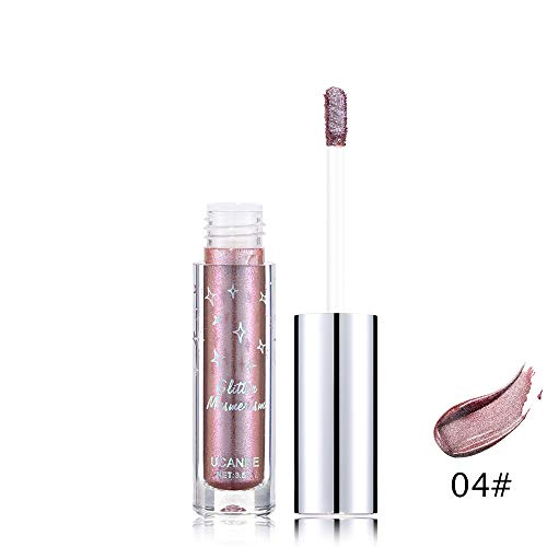 UOKNICE Eye Shadow for Women, Metallic Liquid Glow Glitter Plastic Gel Longlasting Eyeliner Cosmetic Makeup Eyeshadow Classes Retractable Custom Cargo maybelline Full bourjois Theatrical ()