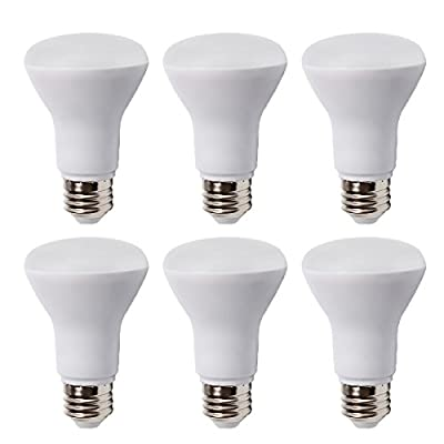 6 Pack - BR20 Dimmable LED Bulb, 7W (50W Equivalent), R20 Wide Flood Light Bulb, 3000K Warm White 550lm, 120° Beam Angle, E26 Medium Screw Base, UL Listed, XMprimo