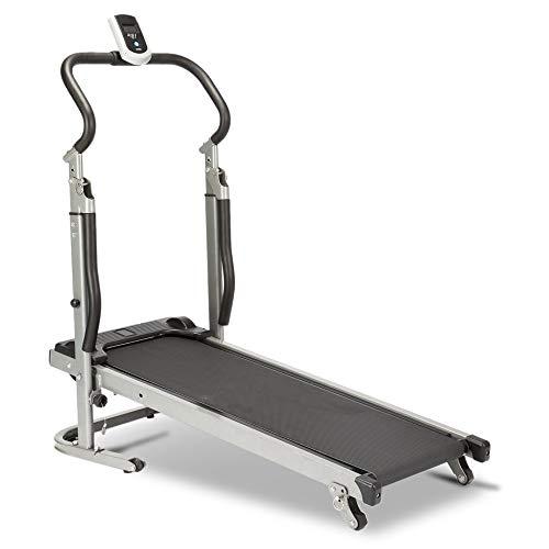 Homgrace Folding Manual Treadmill Running Machine with Incline Settings (Black)