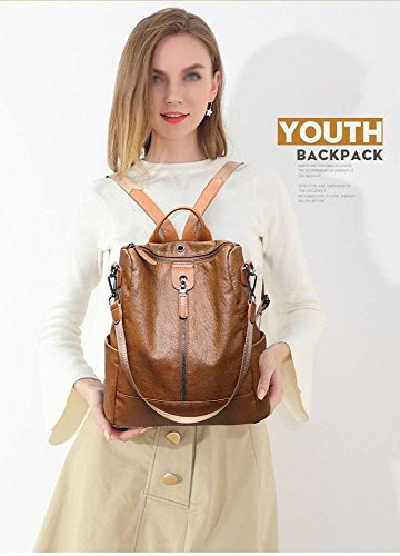 À En Mouton Grand Cats Main Dos De Souple Mode Peau Cuir Voyage Sac Sacs Marron 5xFHqwT