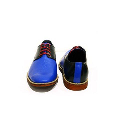 Rindsleder Sassuolo Oxfords Leder Weiches Modello Herren Abendschuhe Schnüren Schnürhalbschuhe Leder Handgemachtes Blau Italienisch qSwxdwzYF