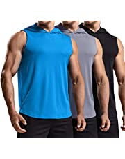 TSLA Men's 3 Pack Sleeveless Running Tank Top, Performance Athletic Muscle Shirts, Dry Fit Workout Gym Tank Tops